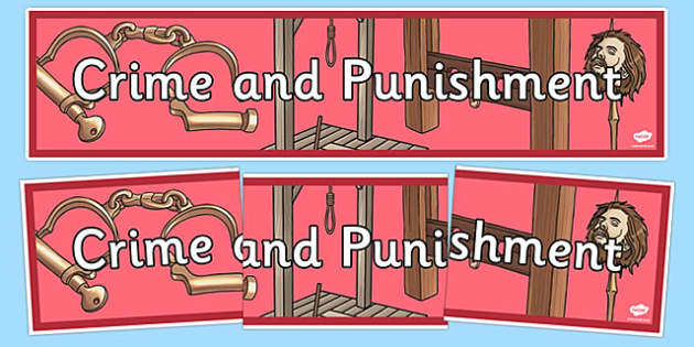 Crime and Punishment Display Banner - display, banner, history
