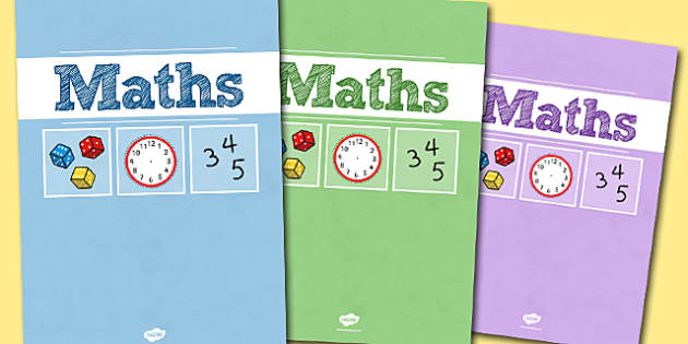 A4 Maths Divider Covers- maths, maths divider covers, divider covers, maths dividers, A4 covers, A4 divider covers, numeracy