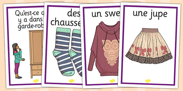 French Clothes 1 Display Posters - french, clothes, display