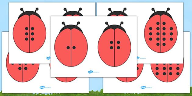 Ladybird Doubles (Minibeasts) - Ladybirds, doubling, doubles, double, numeracy, ladybirds, adding, multiplication, calculation, minibeasts, foundation numeracy, numeracy, numbers, numbers to 5, 1-5, bingo, minibeasts