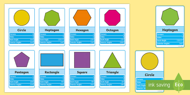 2D Shapes Top Cards Game - 2d shapes, top cards, game, activity, top trumps, shapes, maths, mathematics