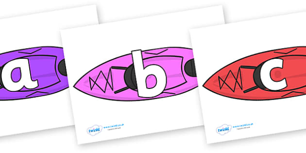 Phoneme Set on Kayaks - Phoneme set, phonemes, phoneme, Letters and Sounds, DfES, display, Phase 1, Phase 2, Phase 3, Phase 5, Foundation, Literacy
