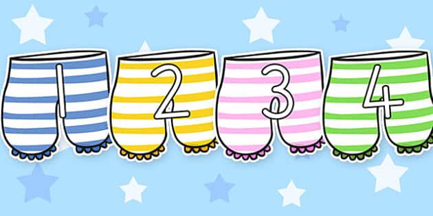 Number Display to Support Teaching on Aliens Love Underpants - australia, aliens, underpants