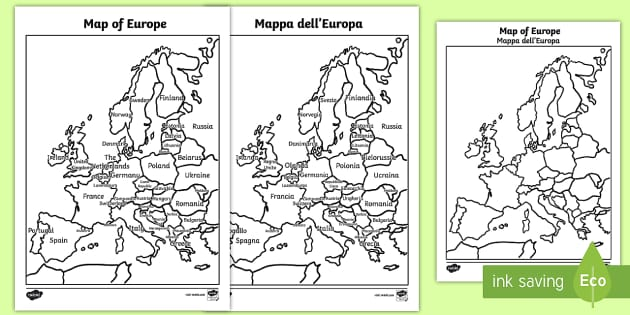Blank Map Of Europe Twinkl - Free printable map of us european settlements