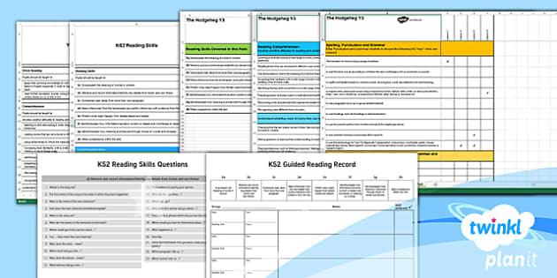 Y3 The Hodgeheg PlanIt Guided Reading Assessment Pack to Support Teaching on The Hodgeheg - The Hodgeheg, Dick King-Smith, year 3, y3, RIC, carousel, summative, formative, tracker, guided read