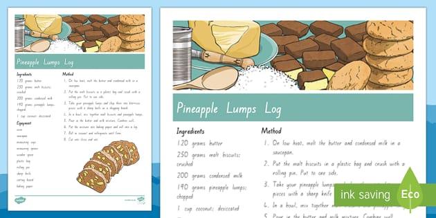 Treaty Treat Pineapple Lumps Lolly Log Recipe - Waitangi Day, Treaty of Waitangi ,tiriti o waitangi, kiwi, kiwiana, recipes