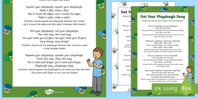 Get Your Playdough Song - Playdough Play, dough disco, finger gym, fine motor skills, physical development.