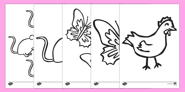 Story Colouring Sheets to Support Teaching on Handa's Hen - colour, activity, activities