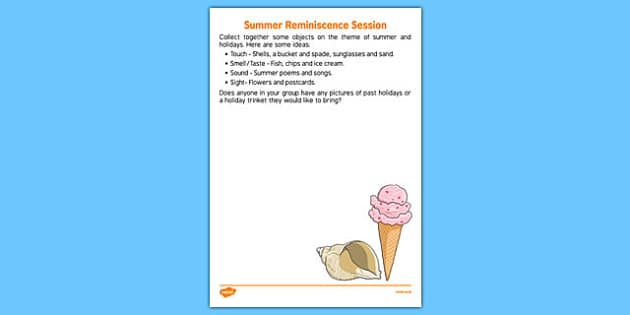 Elderly Care Summer Reminiscence Session - Elderly, Reminiscence, Care Homes, Summer