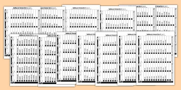 Year 2 Spelling Lists - spelling, lists, year 2, spell, words, 2