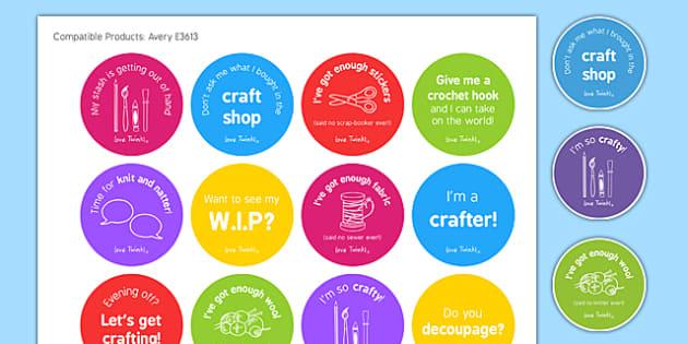 Craft Club Stickers