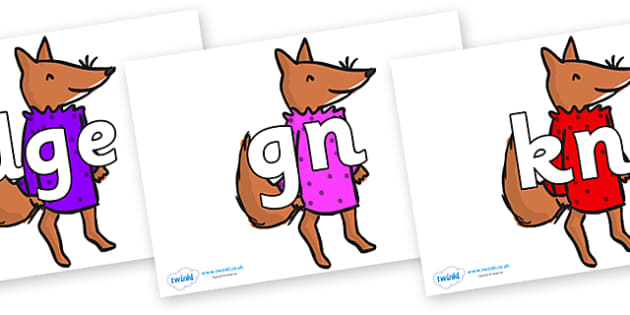 Silent Letters on Small Fox 3 to Support Teaching on Fantastic Mr Fox - Silent Letters, silent letter, letter blend, consonant, consonants, digraph, trigraph, A-Z letters, literacy, alphabet, letters, alternative sounds
