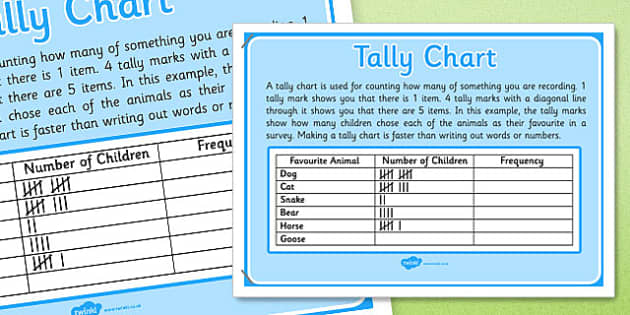 KS1 Year 2 Statistics Display Posters Tally Chart - ks1, year 2, statistics