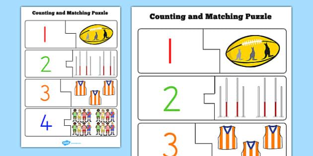 AFL Australian Football League Counting Puzzle - sport, football