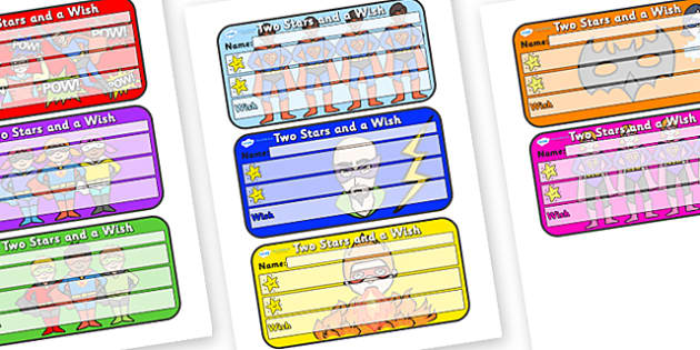 Themed Two Stars and a Wish Comment Labels Superheroes - Themed Labels, Labels, Hero Themed, Two Stars And A Wish, Comment Labels, Hero Labels