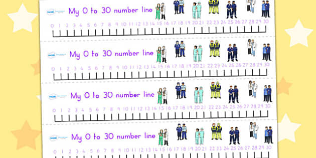 People Who Help Us Number Line 0 30 - count, counting, numeracy