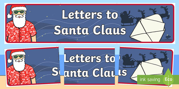 New Zealand Letters to Santa Claus Display Banner