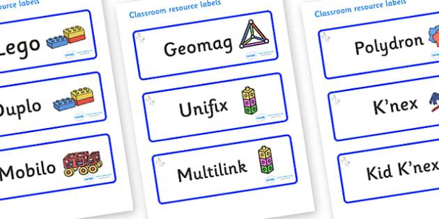 Unicorn Themed Editable Construction Area Resource Labels - Themed Construction resource labels, Label template, Resource Label, Name Labels, Editable Labels, Drawer Labels, KS1 Labels, Foundation Labels, Foundation Stage Labels