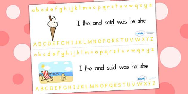 Summer Alphabet Strips - summer, seasons, alphabet, visual aids