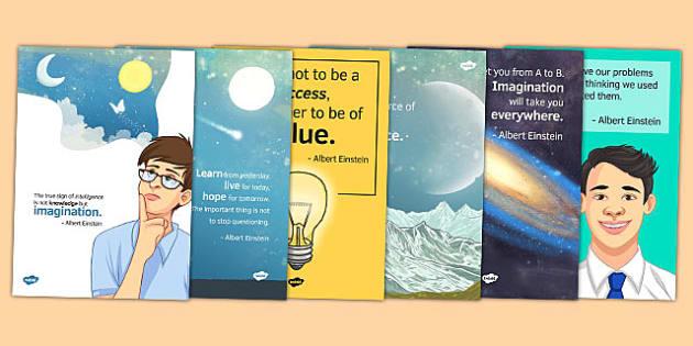 Albert Einstein Quote Posters - albert einstein, display, posters, quotes, inspirational