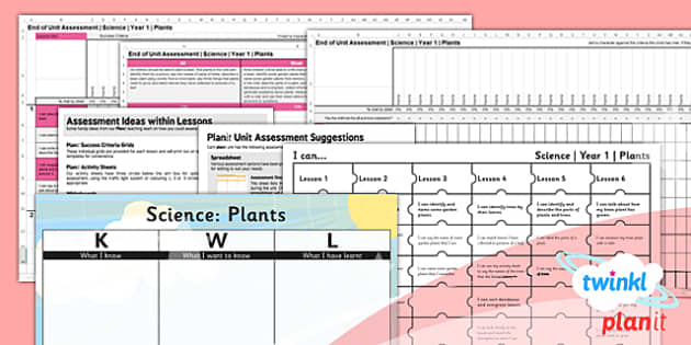 PlanIt - Science Year 1 - Plants Unit Assessment Pack - planit, science, plants, unit, assessment, planning, ks1, 2014, curriculum