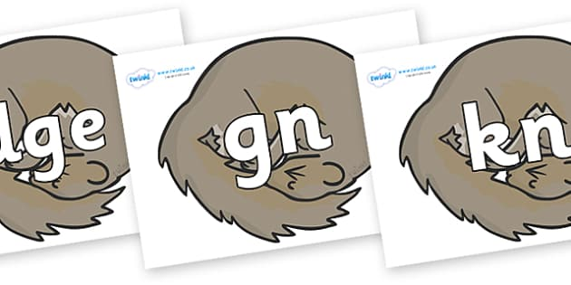 Silent Letters on Grey Squirrels - Silent Letters, silent letter, letter blend, consonant, consonants, digraph, trigraph, A-Z letters, literacy, alphabet, letters, alternative sounds