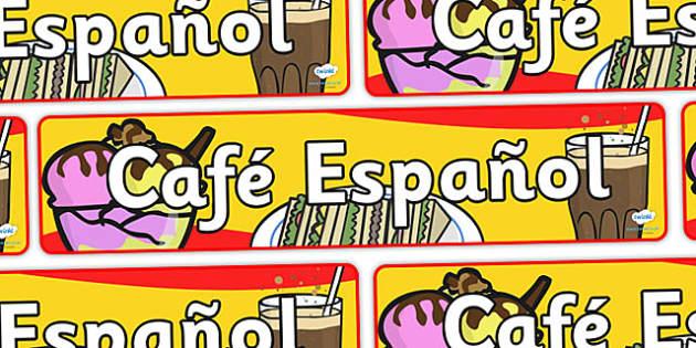 Pancarta de juego de rol de cafetería - cafetería, pancarta, juego de rol