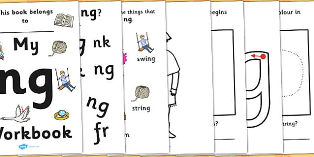 My 'ng' Letter Blend Workbook - workbook, ng, letters, blend, alphabet, activity, handwriting, blends, letter, letter blends
