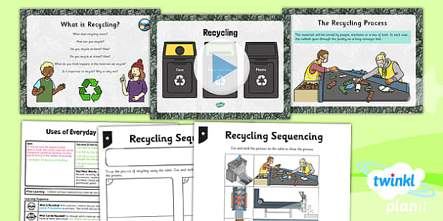 PlanIt - Science Year 2 - Uses of Everyday Materials Lesson 5: Recycling Lesson Pack