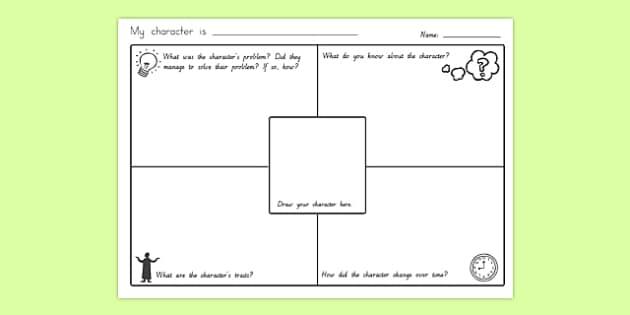 Character Description Writing Sheet - writing, worksheet, sheet