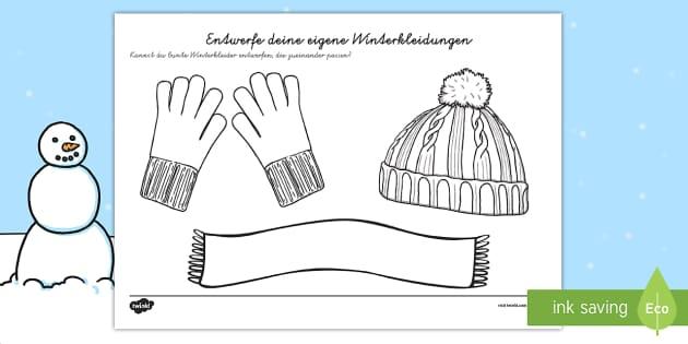 Designe deine eigene Winterkleider German - german, design, own, winter, clothes, clothing, seasons