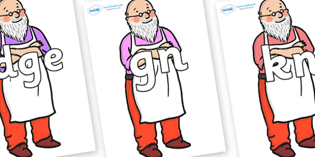 Silent Letters on Mr Clause to Support Teaching on The Jolly Christmas Postman - Silent Letters, silent letter, letter blend, consonant, consonants, digraph, trigraph, A-Z letters, literacy, alphabet, letters, alternative sounds