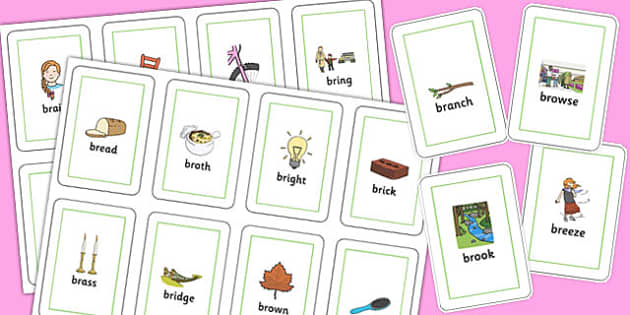 BR Flash Cards - br sound, flash cards, flash, cards, sound, br, sen