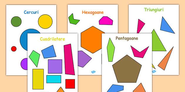 Figuri geometrice plane - Planșă