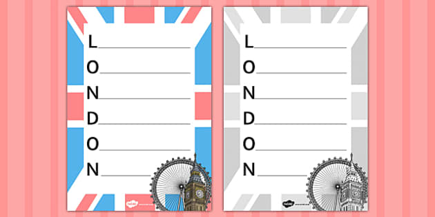 Lovely London Acrostic Poem - london, acrostic, poem, lovely