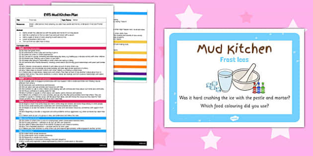 Frost Ices EYFS Mud Kitchen Plan and Prompt Card Pack - mud kitchen