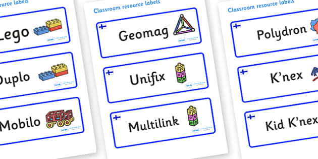 Finland Themed Editable Construction Area Resource Labels - Themed Construction resource labels, Label template, Resource Label, Name Labels, Editable Labels, Drawer Labels, KS1 Labels, Foundation Labels, Foundation Stage Labels