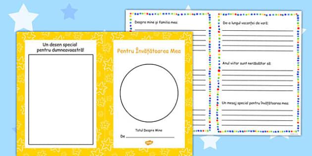 Pentru învățătoarea mea - Broșură - învățătoare, învățător, broșură, prima zi de școală, cadou, materiale, materiale didactice, română, romana, material, material didactic