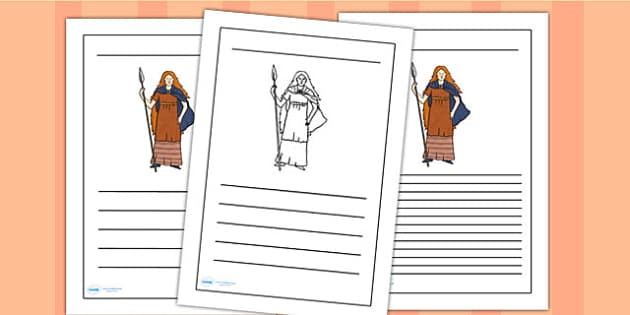 Boudicca Writing Frames - boudicca, page borders, writing frames, lined pages, writing guides, lined guides, line guide, writing templates, writing aid
