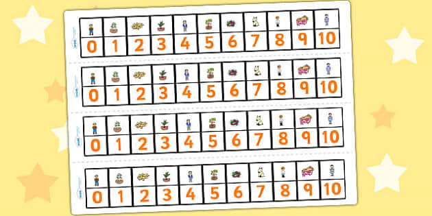 Oliver's Vegetables Number Track 0 10 - stories, counting, maths