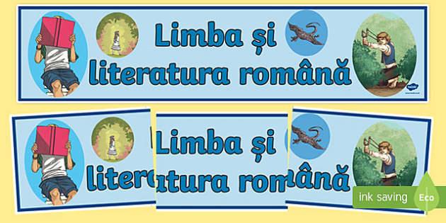 Limba și literatura