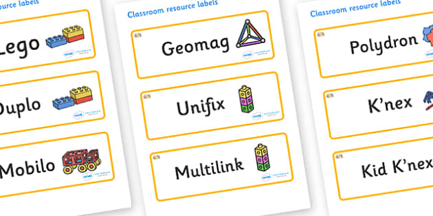 Coral Themed Editable Construction Area Resource Labels - Themed Construction resource labels, Label template, Resource Label, Name Labels, Editable Labels, Drawer Labels, KS1 Labels, Foundation Labels, Foundation Stage Labels