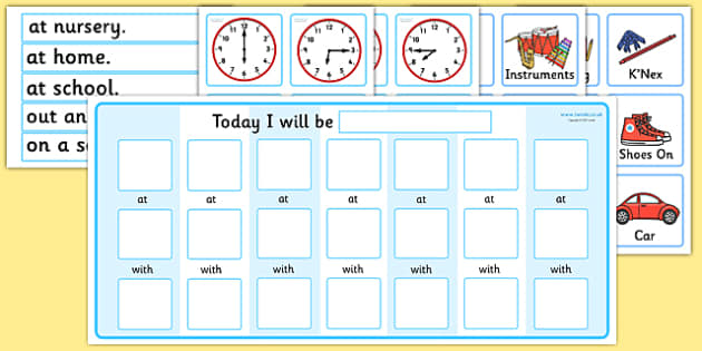 Routine Chart Pack with Place, Time, and Person - routine chart, chart, routine, timetable, timetable chart, today I am, daily routine, home routine chart