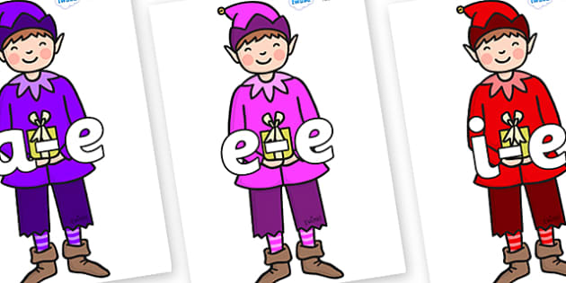 Modifying E Letters on Boy Elves (Multicolour) - Modifying E, letters, modify, Phase 5, Phase five, alternative spellings for phonemes, DfES letters and Sounds
