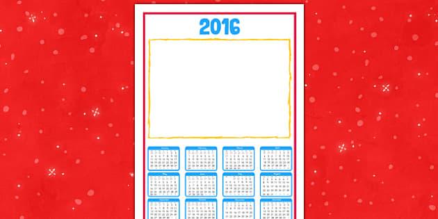 2016 Calendar Christmas Gift - 2016, calendar, christmas, gift, christmas gift, 2016 calendar