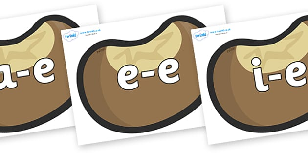 Modifying E Letters on Conkers - Modifying E, letters, modify, Phase 5, Phase five, alternative spellings for phonemes, DfES letters and Sounds