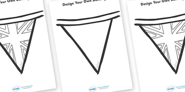 Bunting Designing Worksheet - bunting, design, art, display