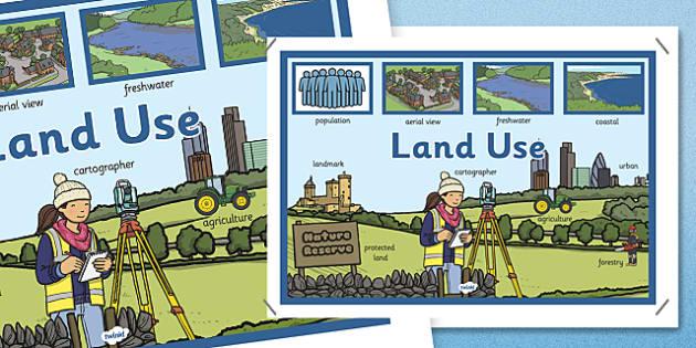 Land Use Display Poster - land use, display poster, display
