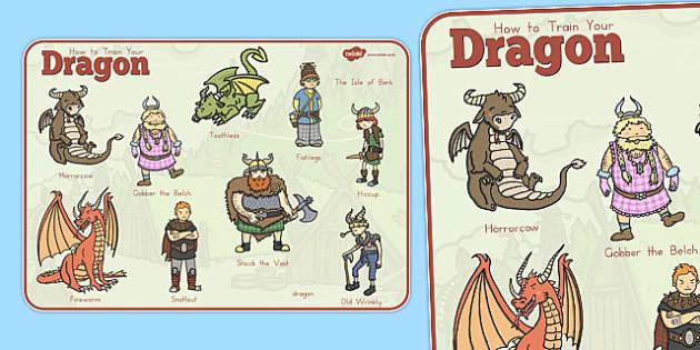 How to Train Your Dragon Word Mat - australia, train, dragon