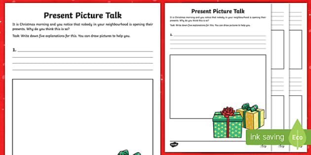 Christmas Present Picture Talk Activity Sheet-Australia